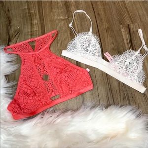 White XS Victoria's Secret Bralette NWT
